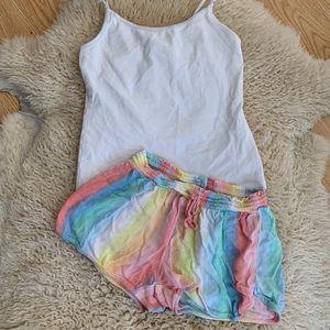 Xhilaration Rainbow Shorts + Cami Tank